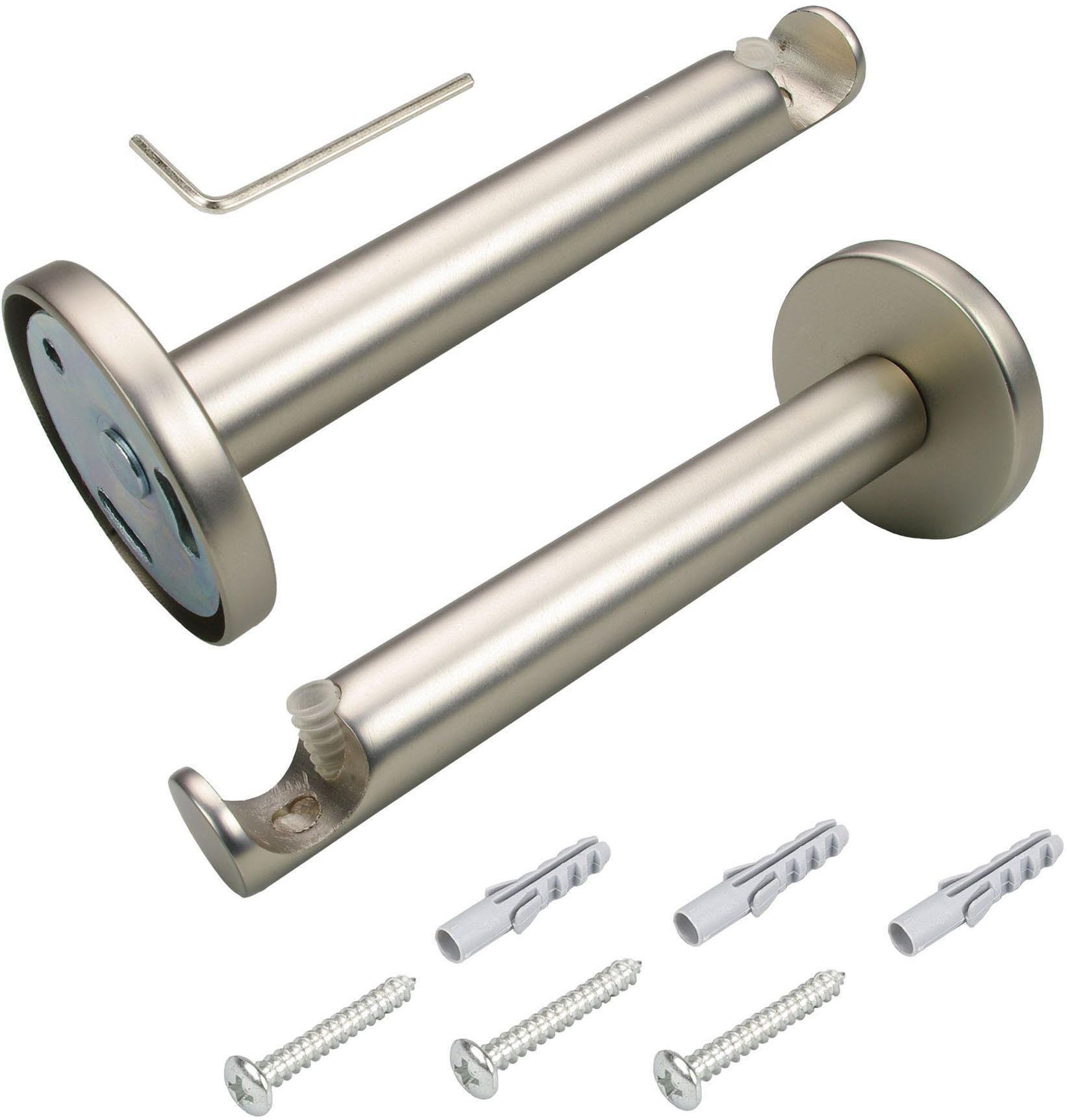 1 Stck.Wandträger Träger für Gardinenstange 20 mm 1 läufig chrom NEU