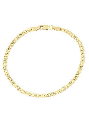 Firetti Goldarmband »Doppelpanzerkettengliederung, 4,0 mm breit, 2-fach diamantiert«