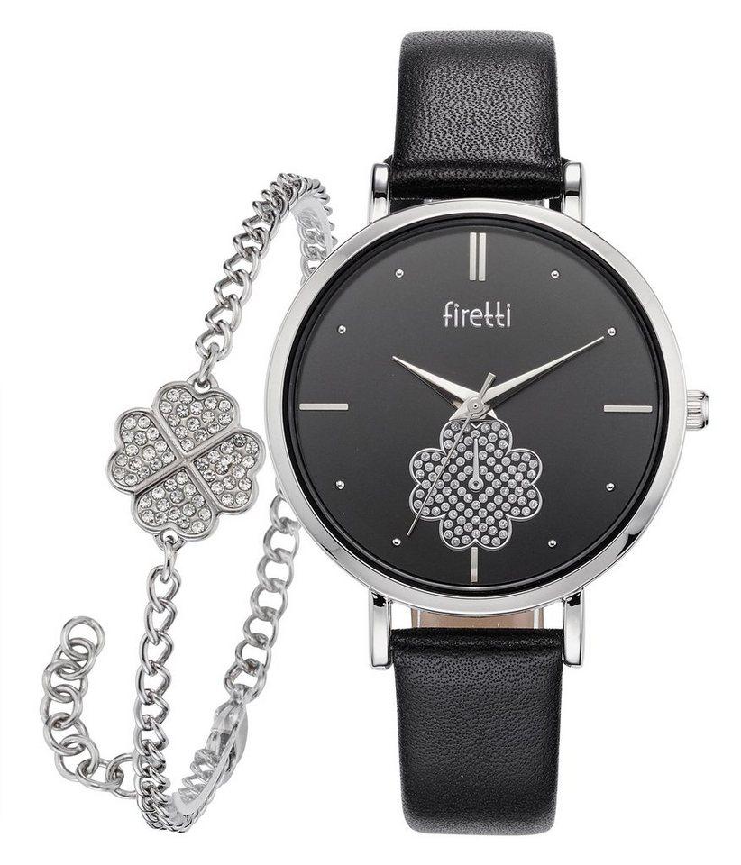 firetti quarzuhr set 2 tlg mit armband mit kristall. Black Bedroom Furniture Sets. Home Design Ideas