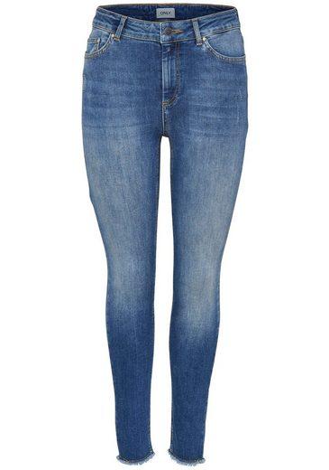 Only Ankle-Jeans »BLUSH« ausgefranste Säume