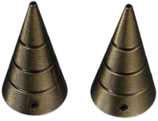 Endstück, Liedeco, »Kegel mit Rille«, für Gardinenstangen Ø 16 mm (2 Stück) | Heimtextilien > Gardinen und Vorhänge > Gardinenstangen | Liedeco