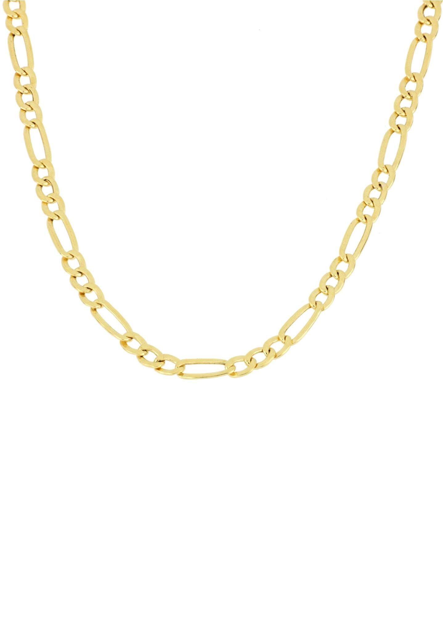 Firetti Collierkettchen »Figarokettengliederung, 2,5 mm, 2-fach diamantiert«