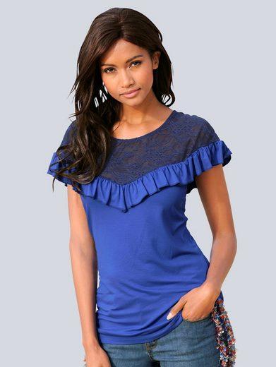 Alba Moda Shirt mit Spitze