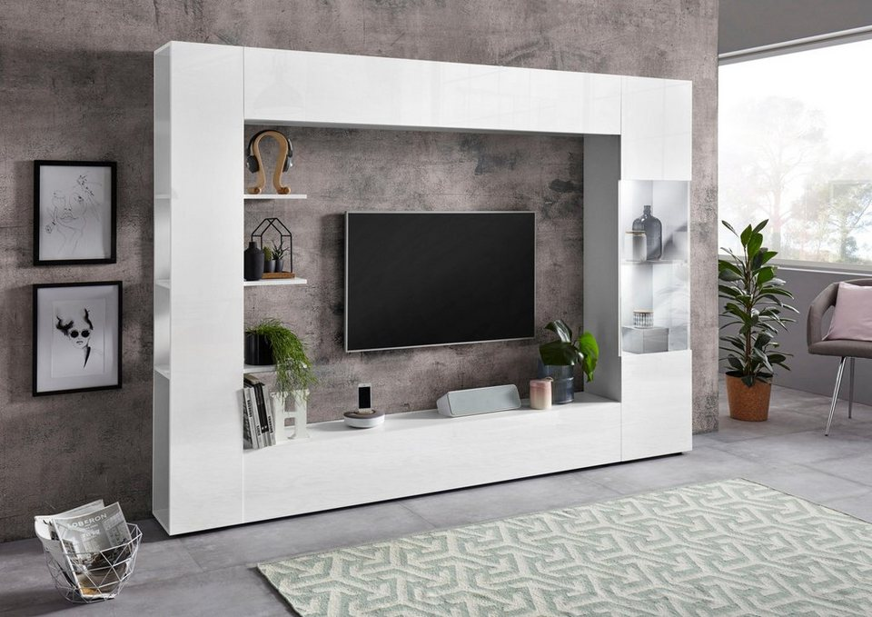 lc tv wand sorano 4 tlg online kaufen otto. Black Bedroom Furniture Sets. Home Design Ideas