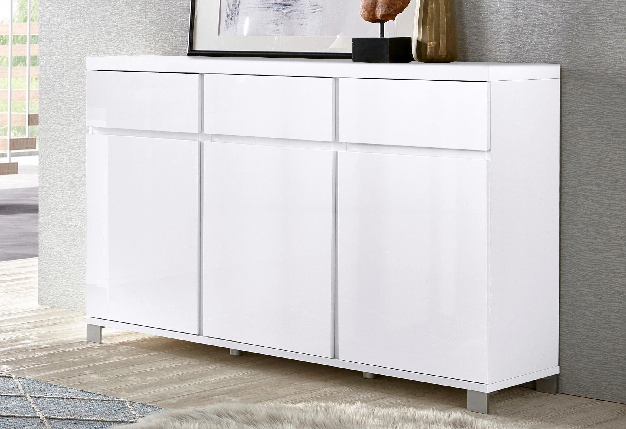 Schrankchen Weis Hochglanz ~ Sideboard hochglanz hochglanz kommode online kaufen bei woody möbel