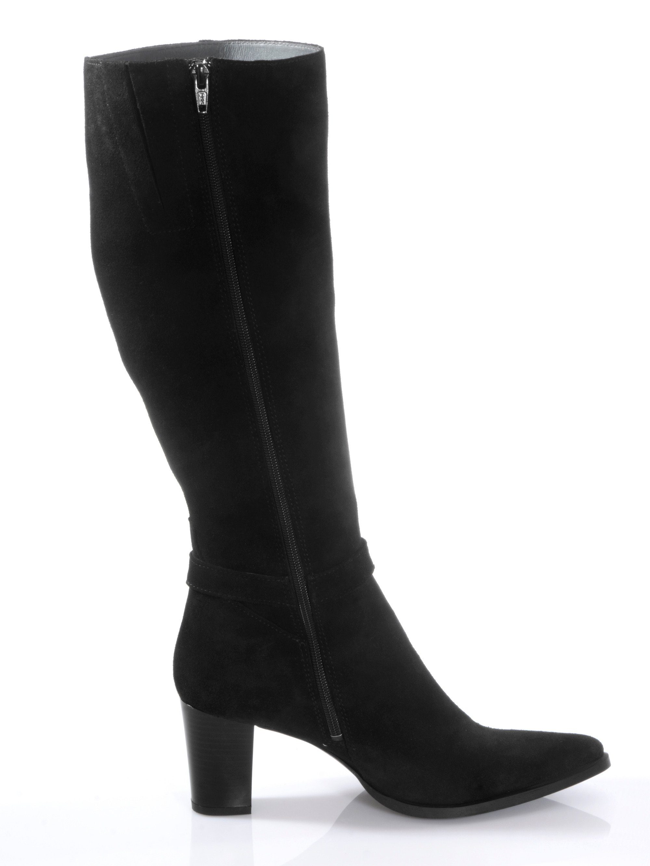 Alba Moda Stiefel seitlich mit dekorativer Spange  schwarz