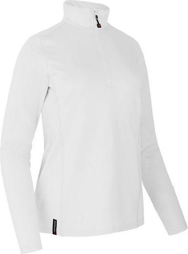 Bergson Fleeceshirt »TANIMA« elastischer, warmer Damen Fleecerolli, Normalgrößen, weiß