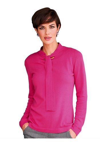 Damen Amy Vermont Pullover mit femininer Schluppe rosa | 04055716579971