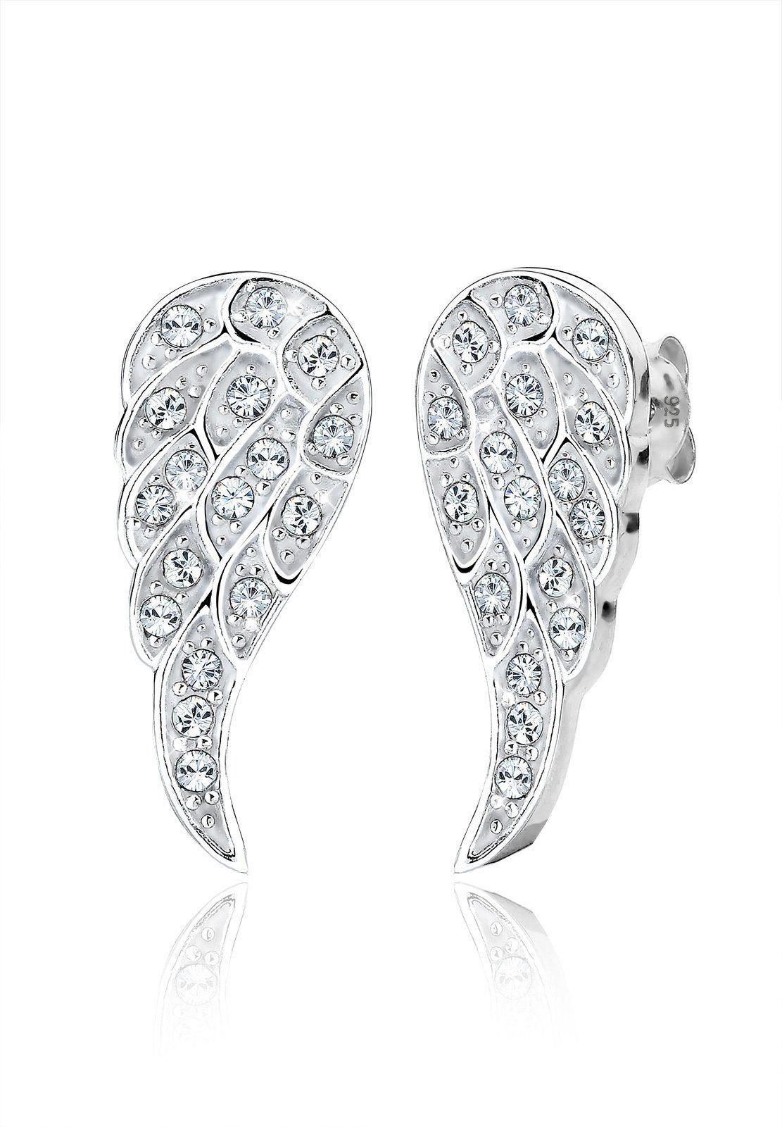 Elli Paar Ohrstecker »Flügel Swarovski® Kristalle 925 Silber«