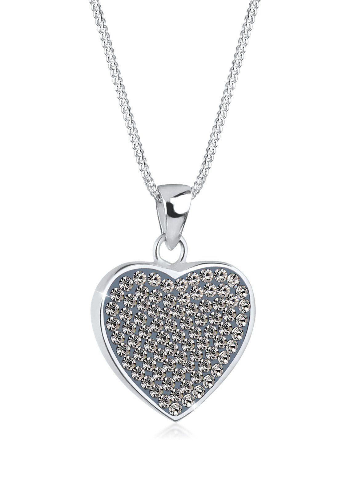 Elli Collierkettchen »Herz Swarovski® Kristalle Magical 925 Silber«
