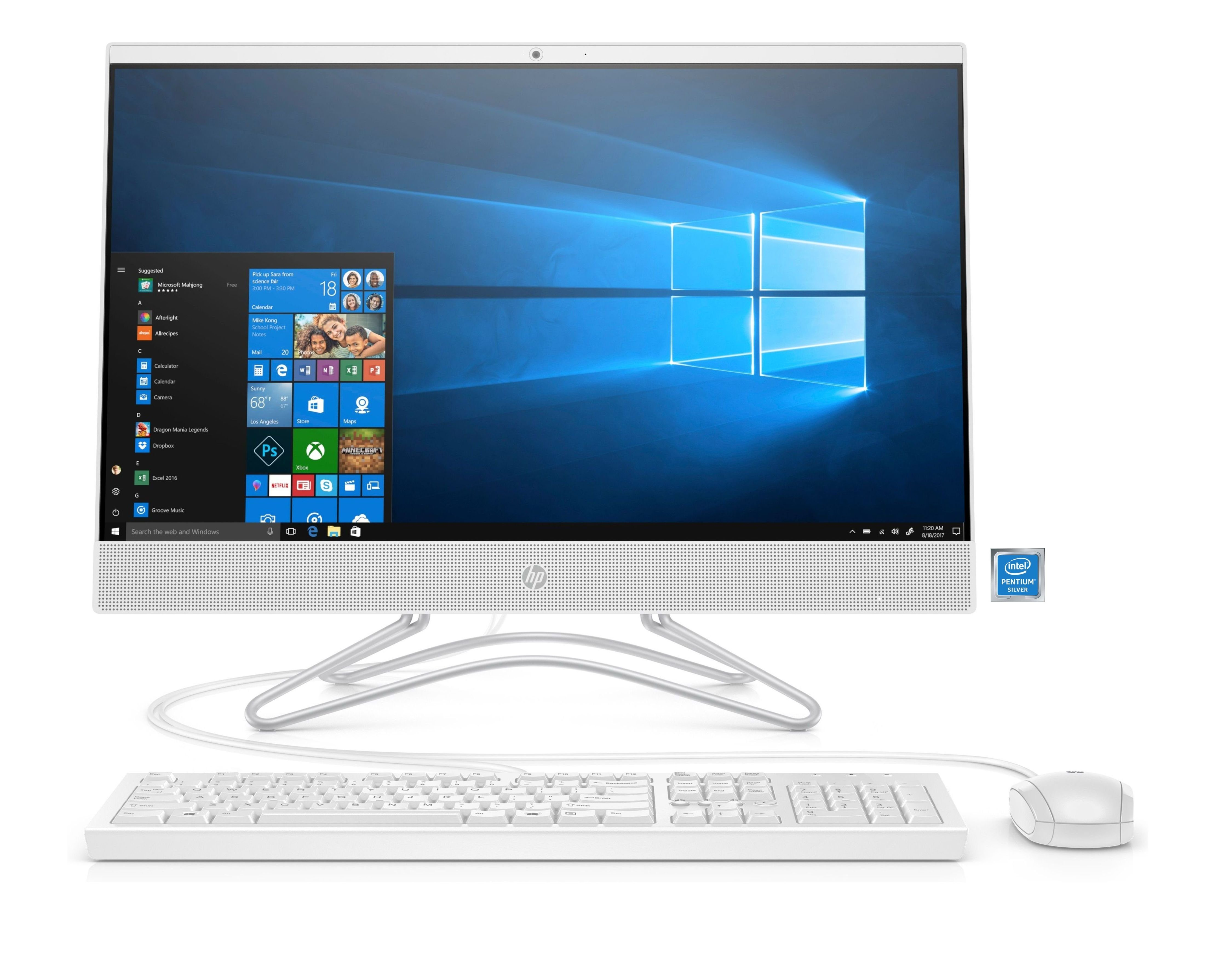 "HP 24-f0054ng All-in-One PC »Intel Pentium, 54,6 cm (21,5"") 1 TB, 8 GB«"