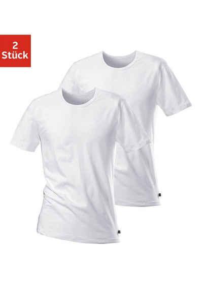 43d36571a5b5b3 T-Shirts H.I.S (2 Stück) schlichter Basic in toller Passform aus weichem  Baumwoll