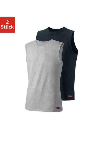 936d7916802d0 H.I.S Slim Fit Muscleshirt (2 Stück) aus weichem Baumwoll-Stretch