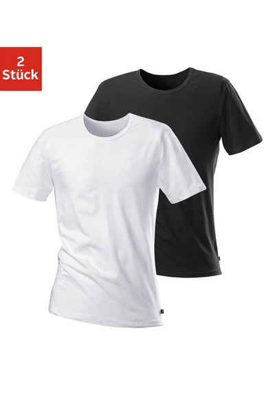 H.I.S T-Shirt (2er-Pack) mit Rundhalsausschnitt und kleinem Logo