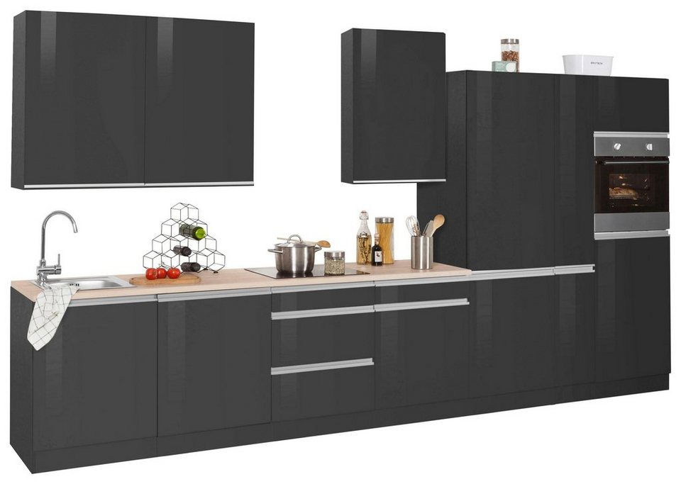 held m bel k chenzeile ohio ohne e ger te breite 390 cm. Black Bedroom Furniture Sets. Home Design Ideas