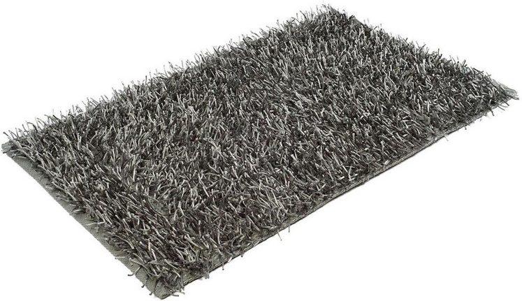 Badematte »Shaggy Uni« Gözze, Höhe 50 mm, rutschhemmend beschichtet, fußbodenheizungsgeeignet