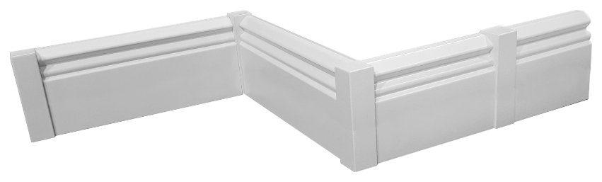 MODERNA Set: Leisten-Verbindung , weiß, 4 Stück, Höhe 92 mm
