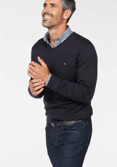 Tommy Hilfiger V-Ausschnitt-Pullover »CORE COTTON SILK V-NK«