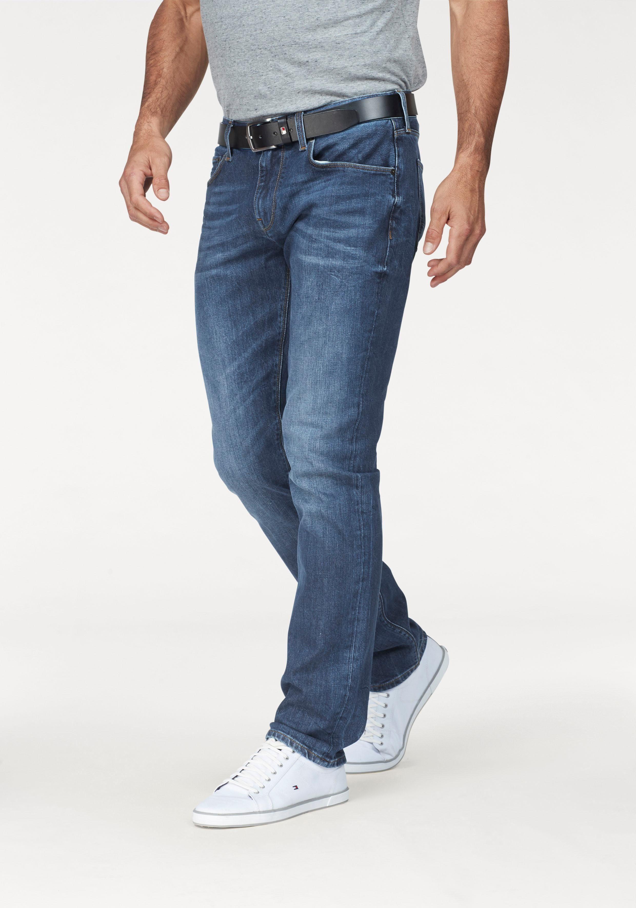 TOMMY HILFIGER Straight Jeans »CORE DENTON STRAIGHT JEANS« Used Effekte online kaufen | OTTO