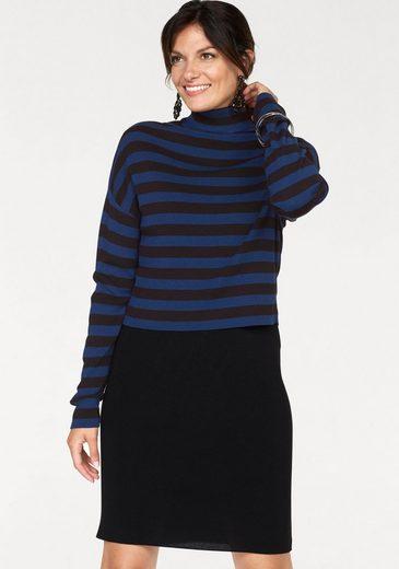Bodyright Strickkleid »Two-in One« (Set, 2-tlg) raffinierter Zweiteiler -Kleid&Pullover