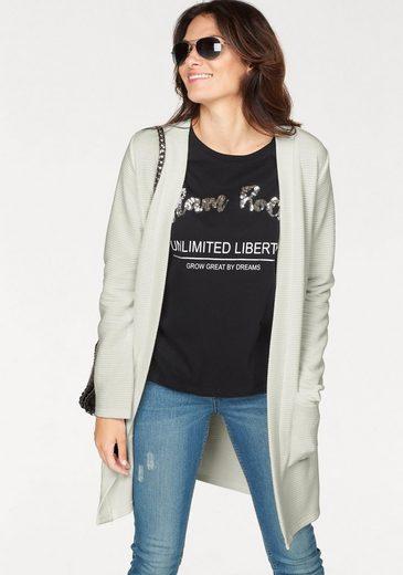 Blue Seven Shirtjacke ohne Verschluss, mit aufgesetzten Taschen