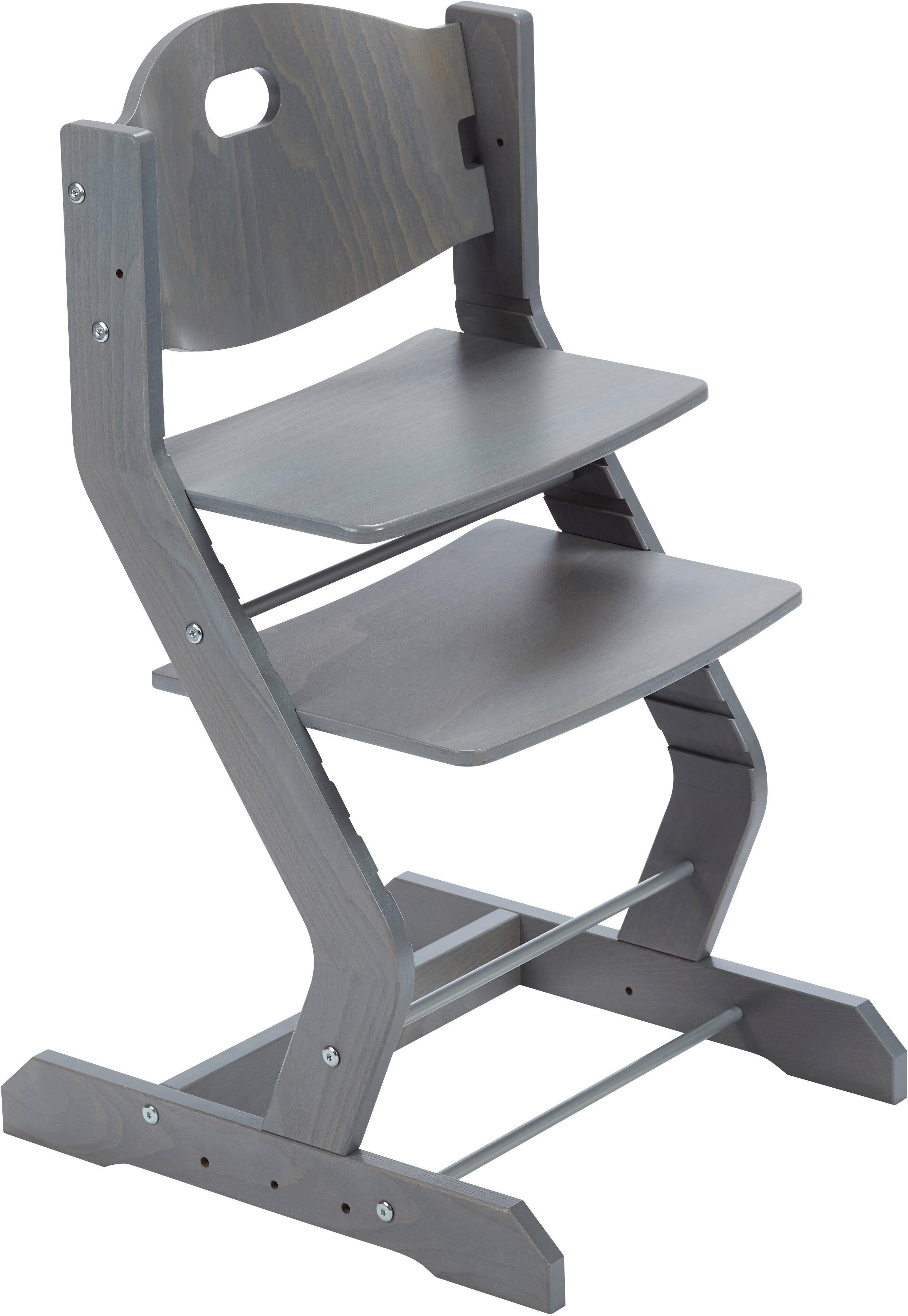 tiSsi® Hochstuhl aus Holz, »Grundgestell Buche Grau«