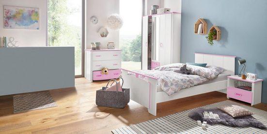 Parisot Jugendzimmer-Set »Biotiful«, (Set, 4-St), mit Kleiderschrank und Kommode