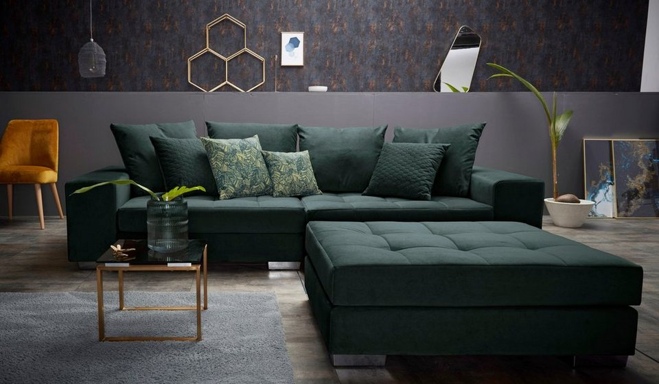 inosign big sofa vale mit steppung im sitzbereich federkern und zierkissen online kaufen otto. Black Bedroom Furniture Sets. Home Design Ideas