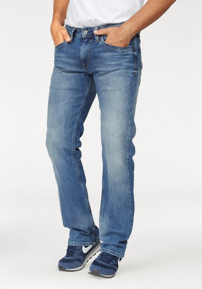 Pepe Jeans Straight-Jeans »KINGSTON ZIP« | Bekleidung > Jeans > Straight Leg Jeans | Blau | Denim | Pepe Jeans