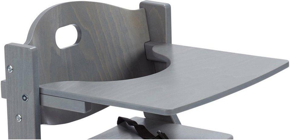 tissi tischplatte aus holz f r hochstuhl grau otto. Black Bedroom Furniture Sets. Home Design Ideas