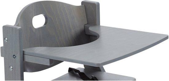 tiSsi® Hochstuhltablett »Ablagebrett aus Holz für Hochstuhl, »Grau««, Holz, für den tiSsi® Hochstuhl