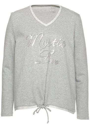 Pailletten Details Sweatshirt Und Glänzenden Toni Mit O81HXqx