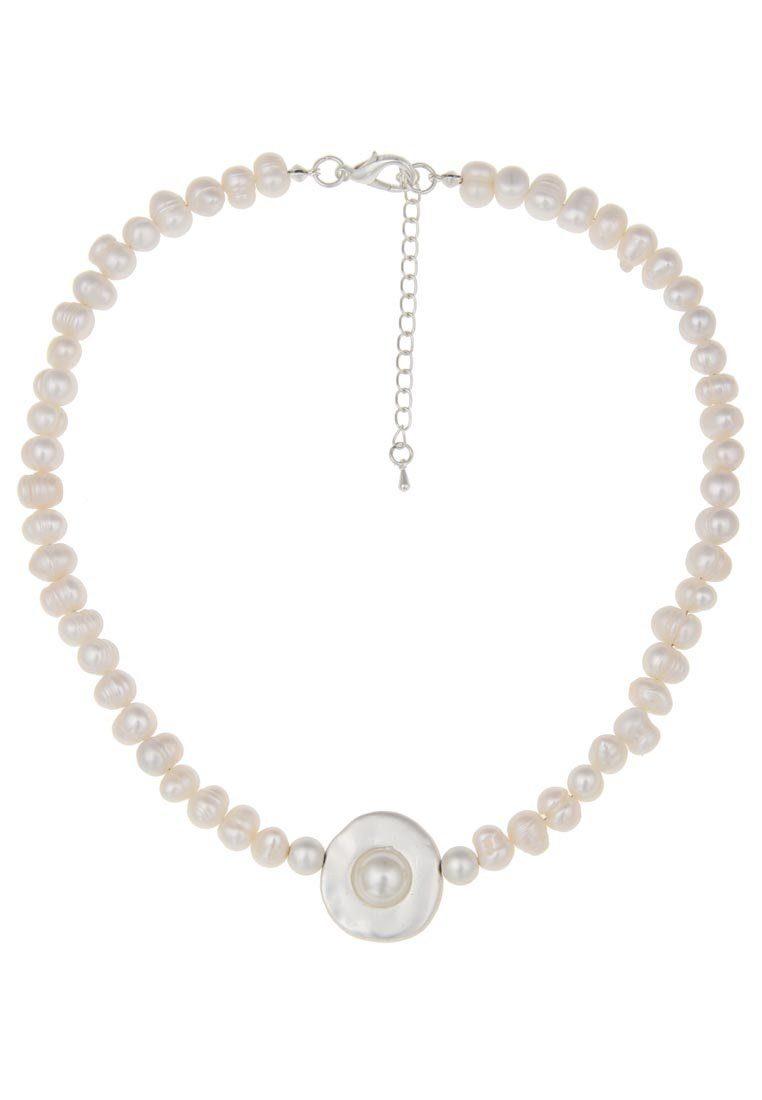 Leslii Perlenkette mit rundem Anhänger
