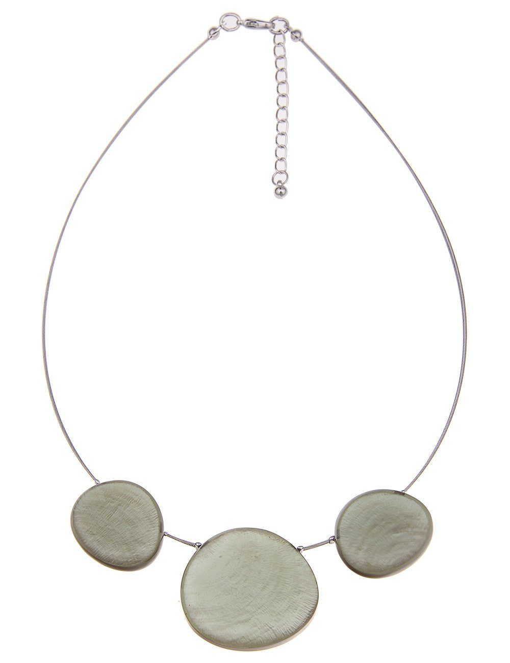 Leslii Modeschmuck-Halskette mit Capizmuschel-Anhänger