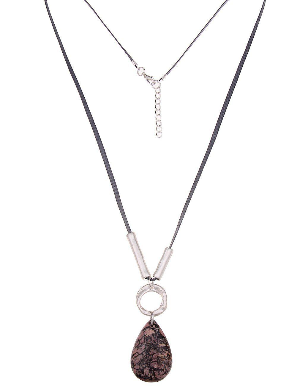 Leslii Halskette mit Naturstein-Anhänger