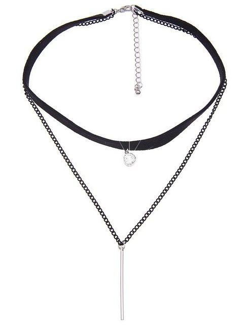 leslii -  Choker-Halskette mit Stabanhänger