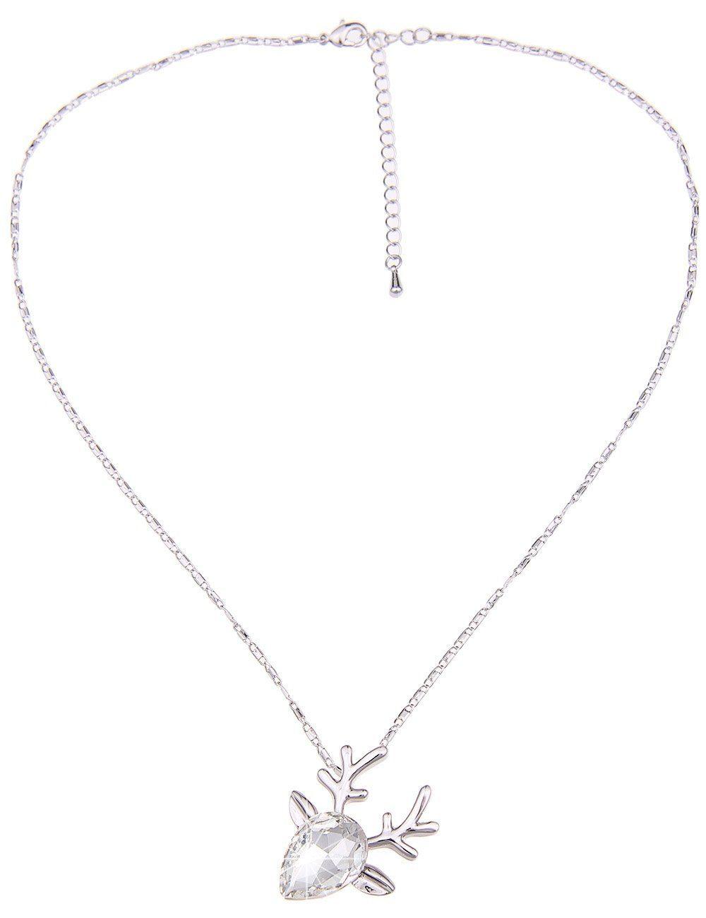 Leslii Halskette mit Rehkopf-Anhänger