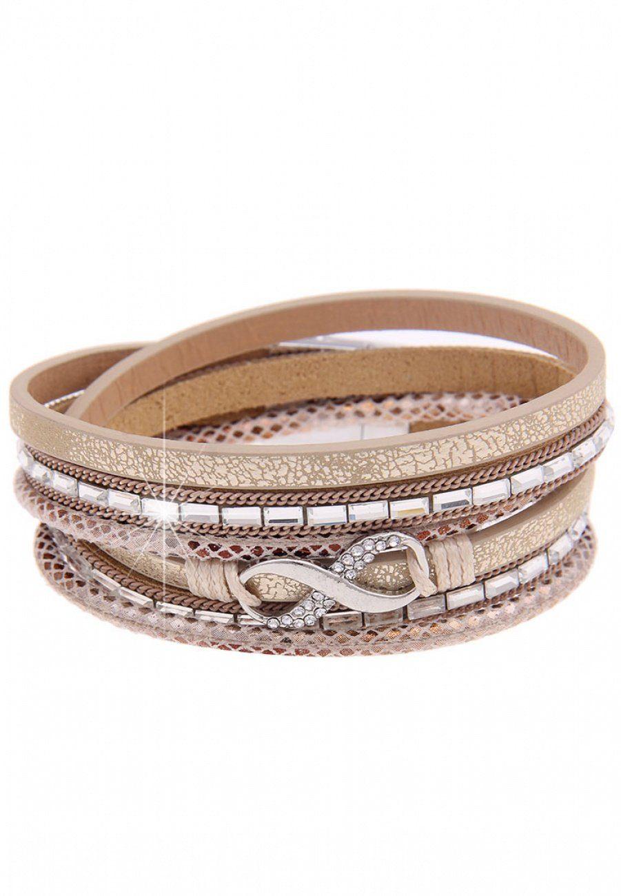 Leslii Wickel-Armband mit Unendlichkeitszeichen