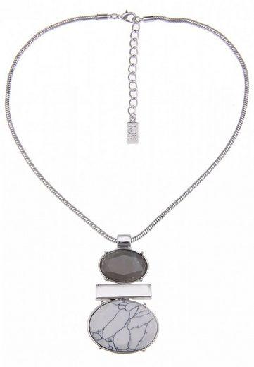 leslii Halskette mit ovalem Stein-Anhänger