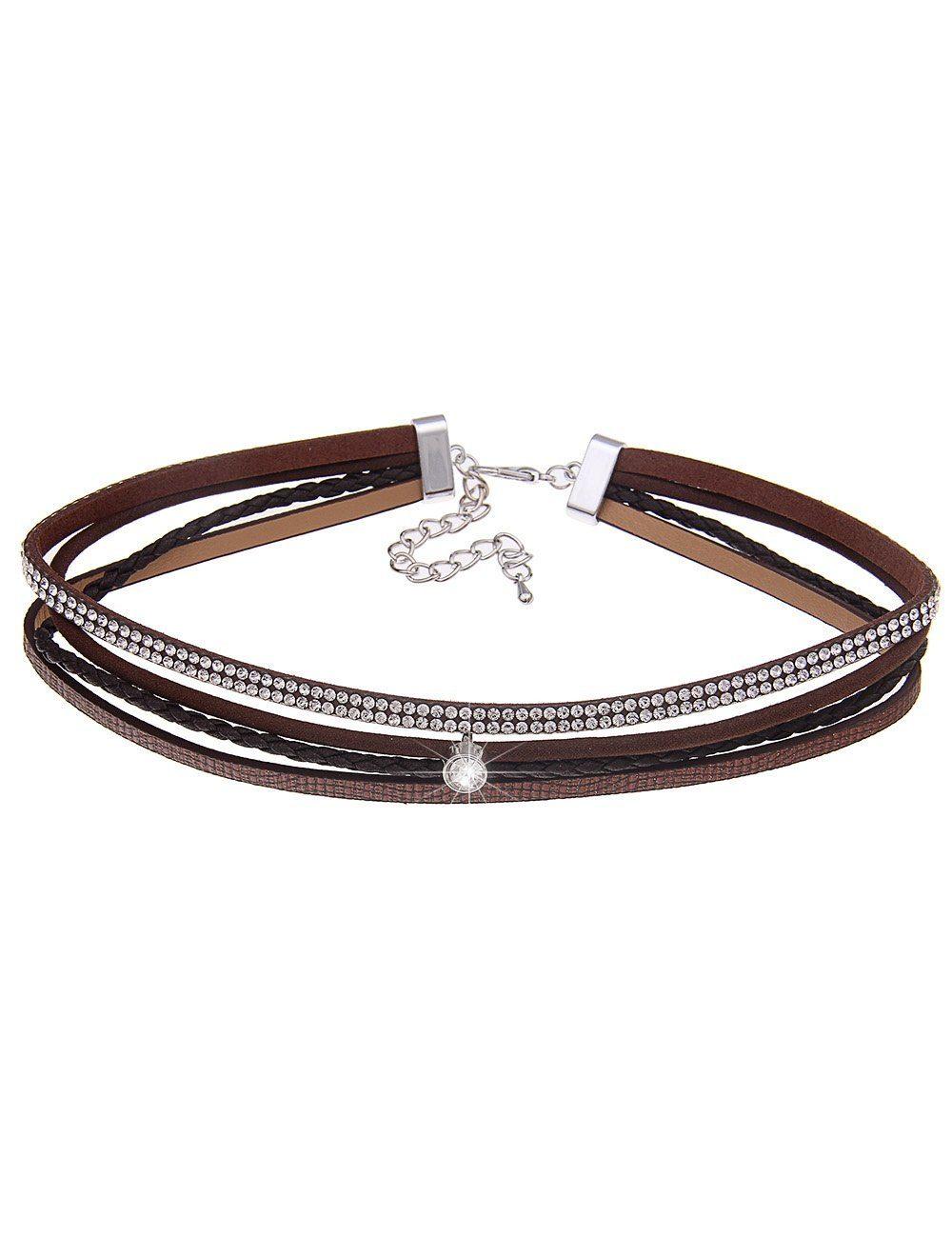 Leslii Halskette im Leder-Design
