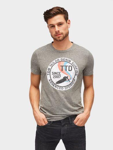 TOM TAILOR Denim T-Shirt »T-Shirt mit rundem Print«
