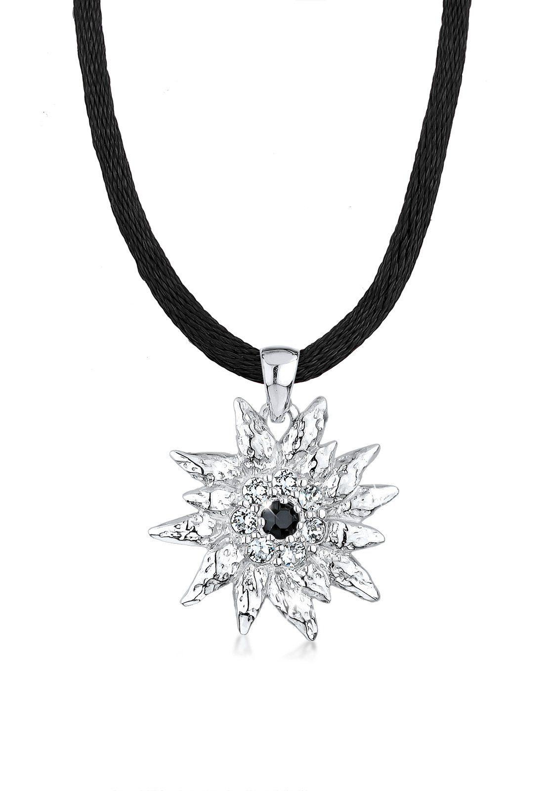 Elli Collierkettchen »Edelweiss Swarovski Kristalle Sterling Silber«