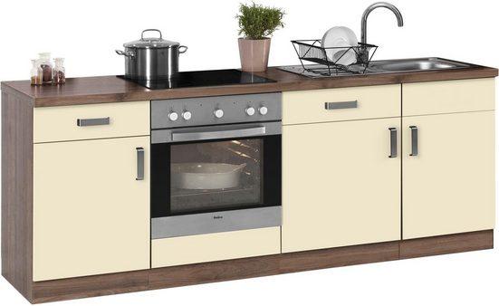 wiho Küchen Küchenzeile »Tacoma«, mit E-Geräten, Breite 220 cm