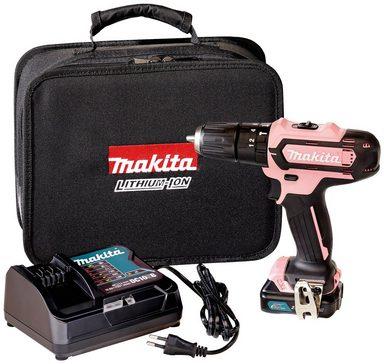 MAKITA Akku-Schlagbohrschrauber »HP331DSAP1«, 12 V, Pink Sonderedition, inkl. Akku und Ladegerät