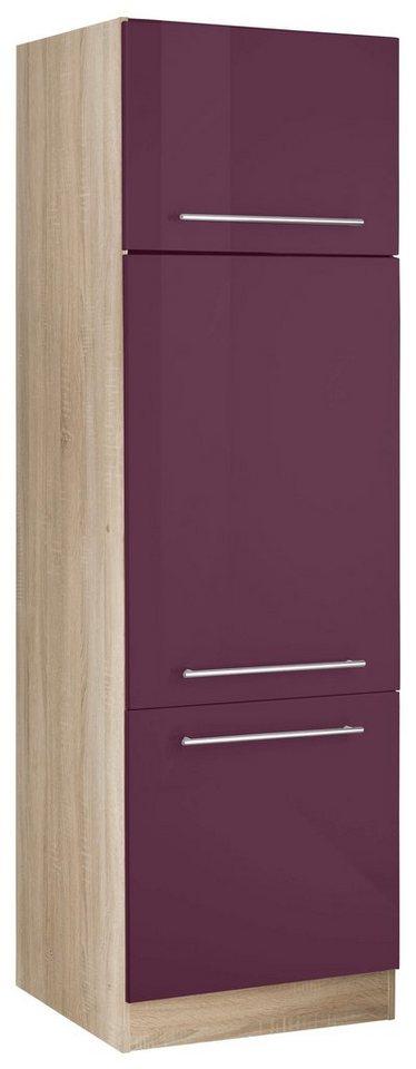 HELD MÖBEL Kühlumbauschrank »Eton« | Küche und Esszimmer > Küchenschränke > Umbauschränke | Lila | Melamin | HELD MÖBEL