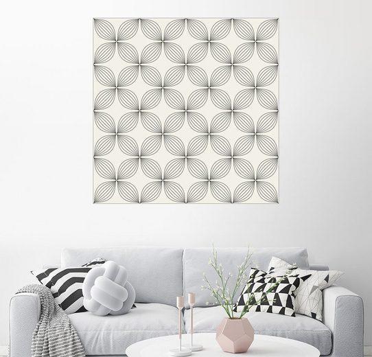 Posterlounge Wandbild »Monochromes Linienmuster«