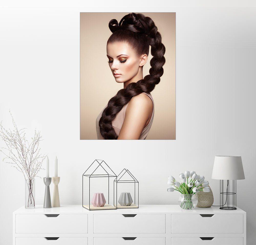Posterlounge Wandbild »elegante Frisur« | Dekoration > Bilder und Rahmen > Bilder | Posterlounge