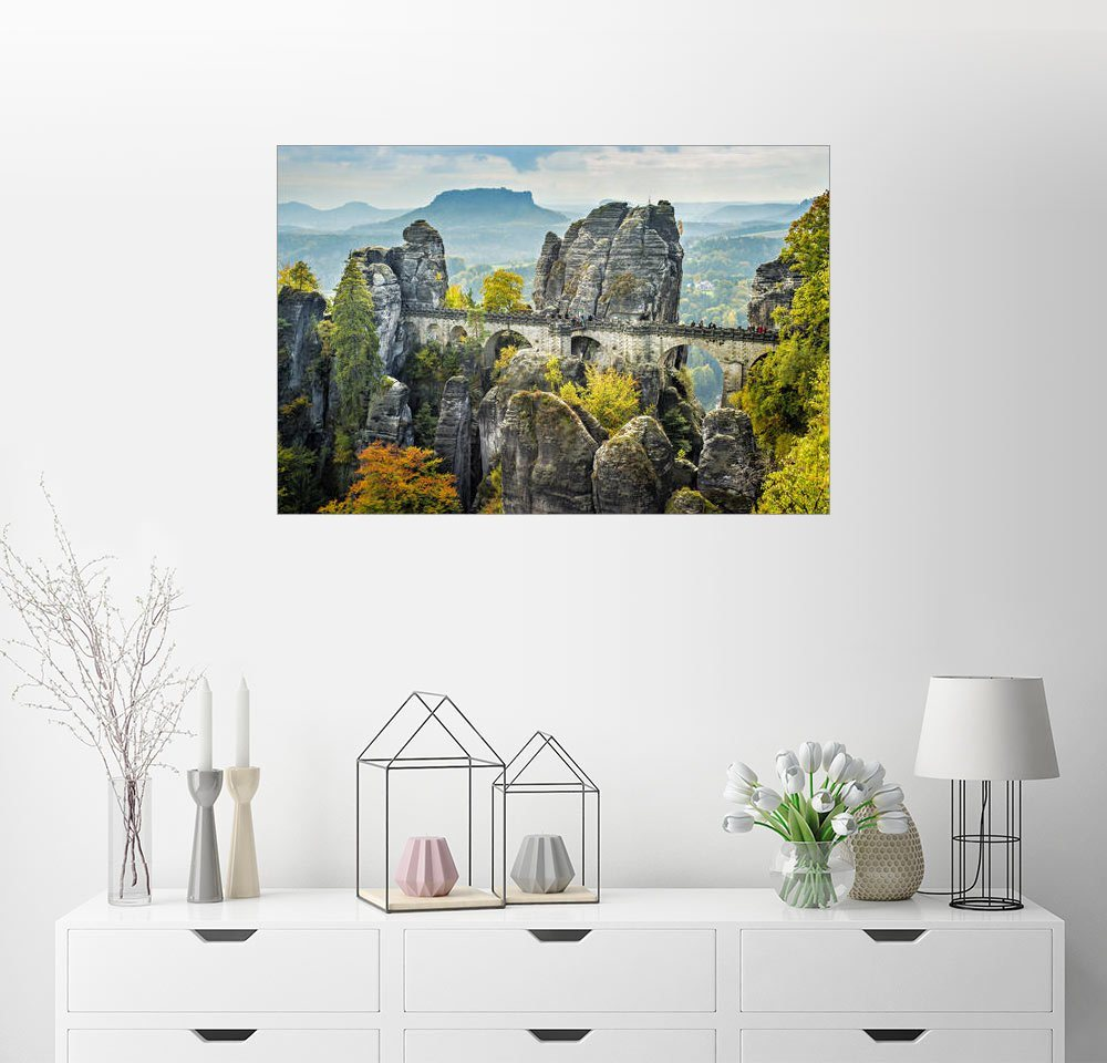 Posterlounge Wandbild »Panorama Elbsandsteingebirge«