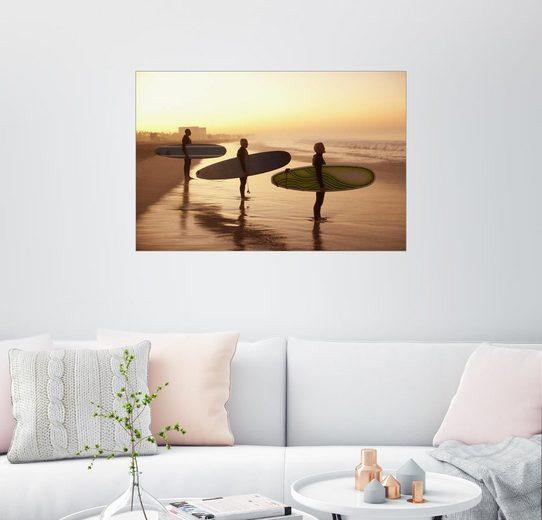 Posterlounge Wandbild - Sam Edwards »Warten auf die perfekte Welle«