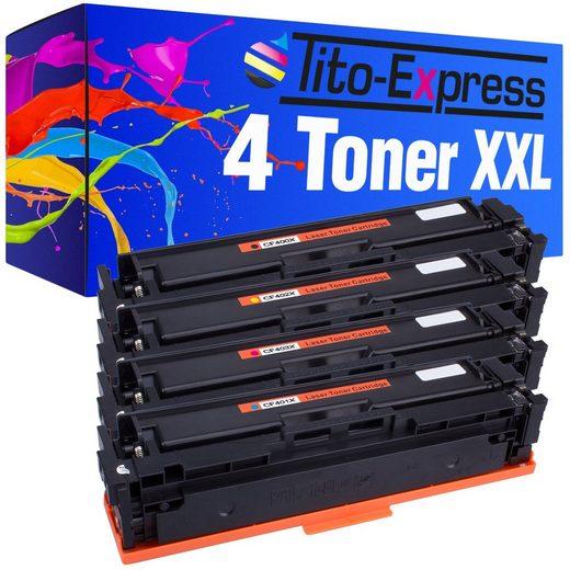 Tito-Express PlatinumSerie Tonerpatrone »4er Set ersetzt HP CF400X CF401X CF402X CF403X 201X«